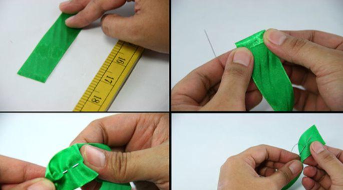 怎样做毛毛虫形发饰:用丝带做蝴蝶结发饰教程图解
