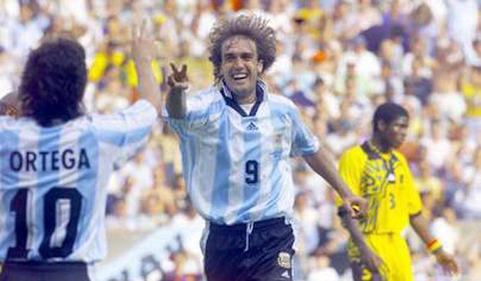 1998年世界杯阿根廷5比0狂胜牙买加,战神巴蒂斯图塔上演帽子戏法