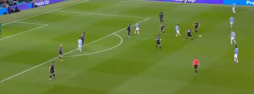 贝尔纳多席尔瓦扣球送助攻,德布劳内推射破门