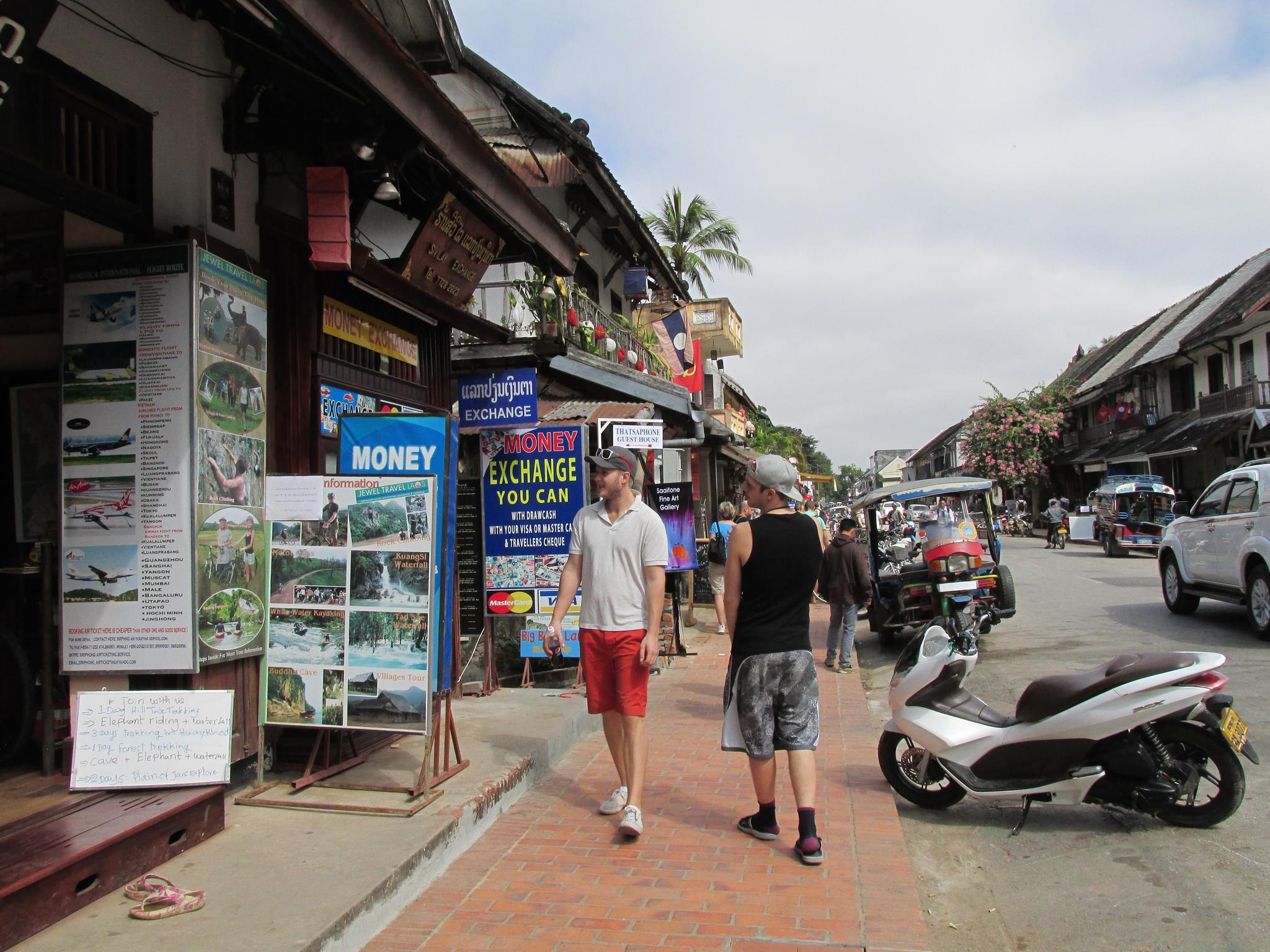 老挝 琅勃拉邦 洋人街