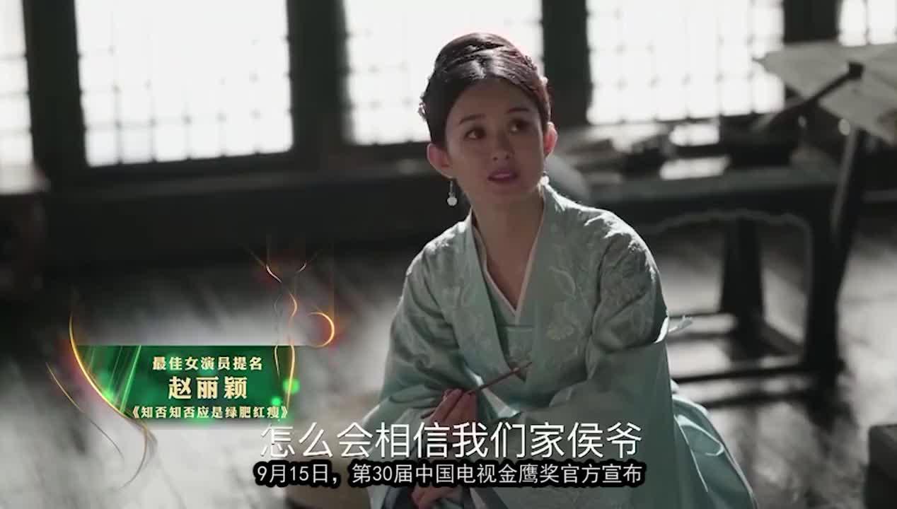 赵丽颖梅开二度,获金鹰奖双提名,85后第一花旦实至名归!