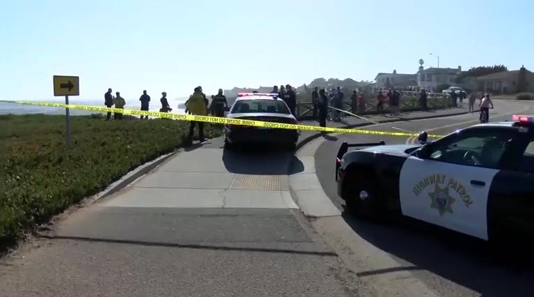 加州上演警匪飙车大戏,最终嫌犯冲过悬崖,坠入太平洋