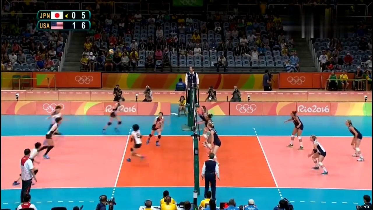 木村沙织,里约奥运会日本女排对阵美国女排亮点
