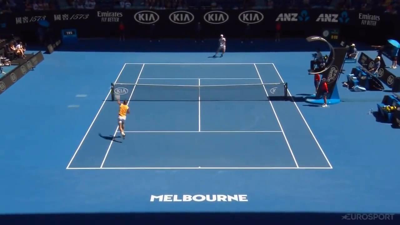 澳网第四轮纳达尔3-0送蛋横扫伯蒂奇进八强战蒂亚夫