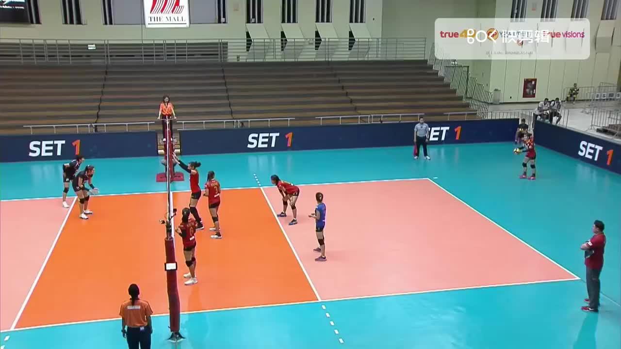 孔敬女排战胜3BB女排集锦 泰国女排联赛