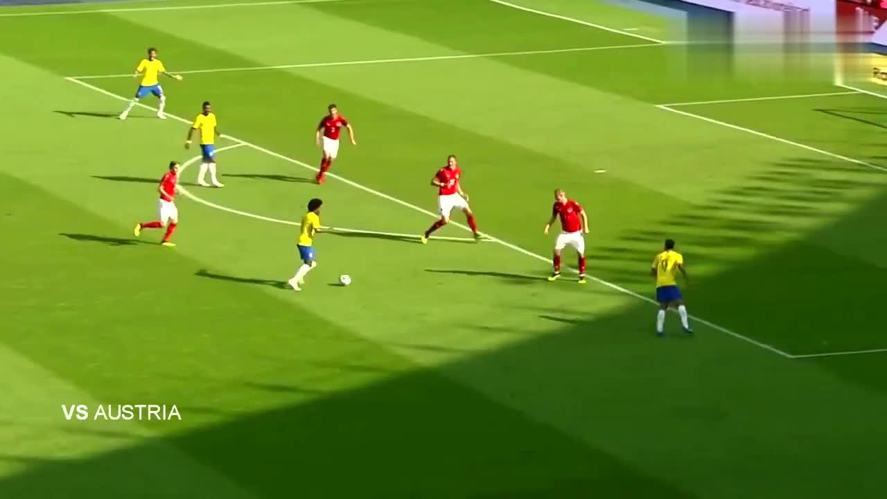 内尔马国在巴西国家队10个精彩进球!突破、远射、花式进球真全面