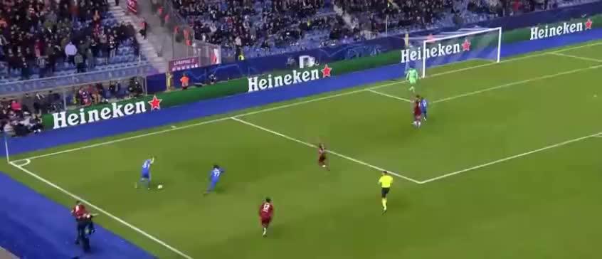 洛夫伦后场护球遭抢断,奥德伊转身低射破门