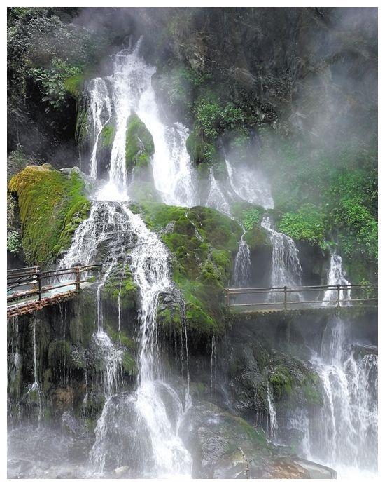 世界上最大的温泉瀑布——螺髻山温泉瀑布