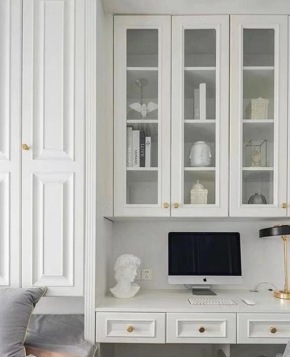 房子面积太小没书房,怎么不试试卧室书房一体设计?