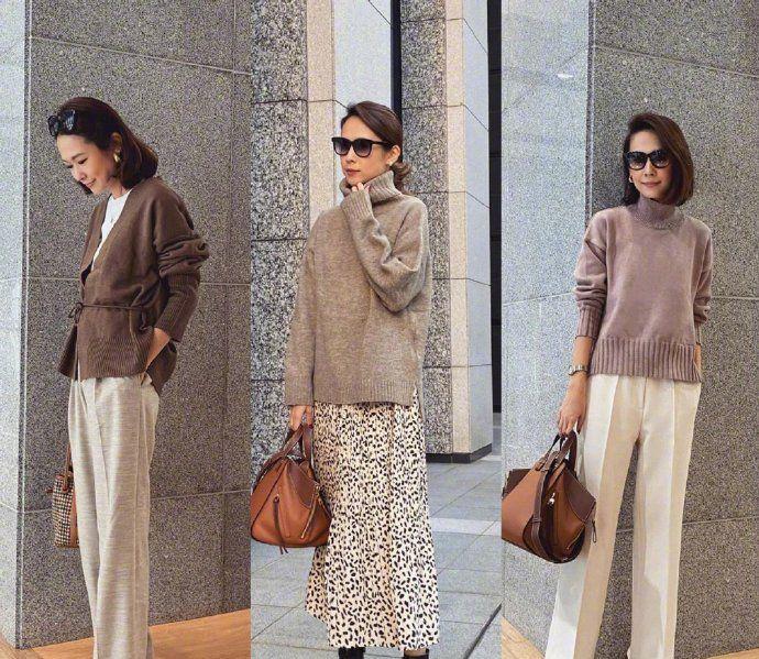 一衣多穿低调又显气质,适用于休闲和职场 发型和配饰也很加分!