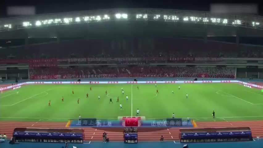 费莱尼建功张弛破门!10人鲁能2-0客胜上港挺进决赛