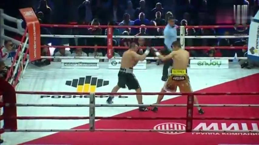 此战莱贝德夫两回合KO对手,事实证明重炮手结束比赛只需一拳