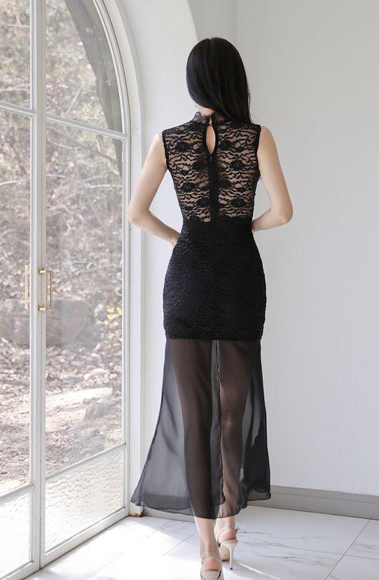 作为一个直男,我相信你一定喜欢孙允珠身穿这身薄纱晚礼裙的样子