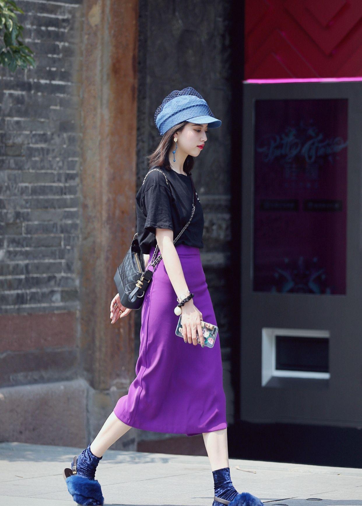 唯美的紫色怎么穿才好看?裙子搭配思路示范,这样穿搭又仙又撩!