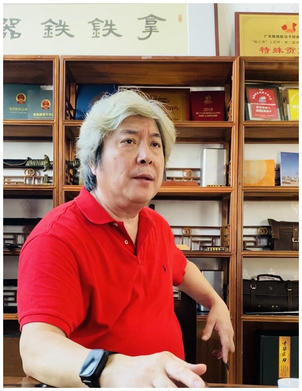 中国饭店协会名厨委专家委员会刘岩秘书长莅临拿铁铁器论刀楼