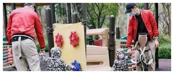 最可爱的萌宝宝,郑嘉颖带1岁儿子去公园,陈凯琳带齐装备护安全