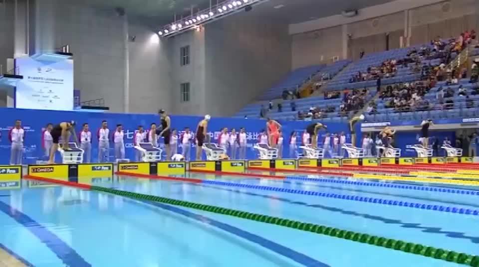 实力碾压!军运会女子400自游泳,王简嘉禾以7秒优势创纪录夺冠
