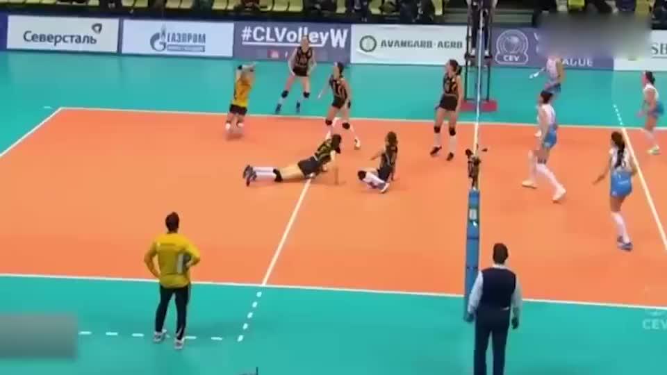 欧冠瓦基弗银行3-0横扫莫斯科迪那摩朱婷的精彩片段集锦