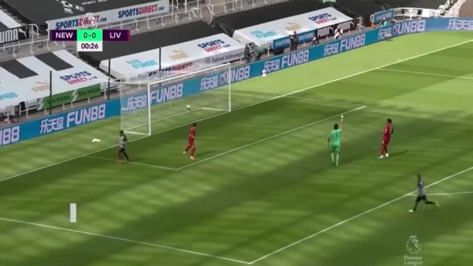 英超联赛第38轮全场集锦,纽卡斯尔联1-3利物浦