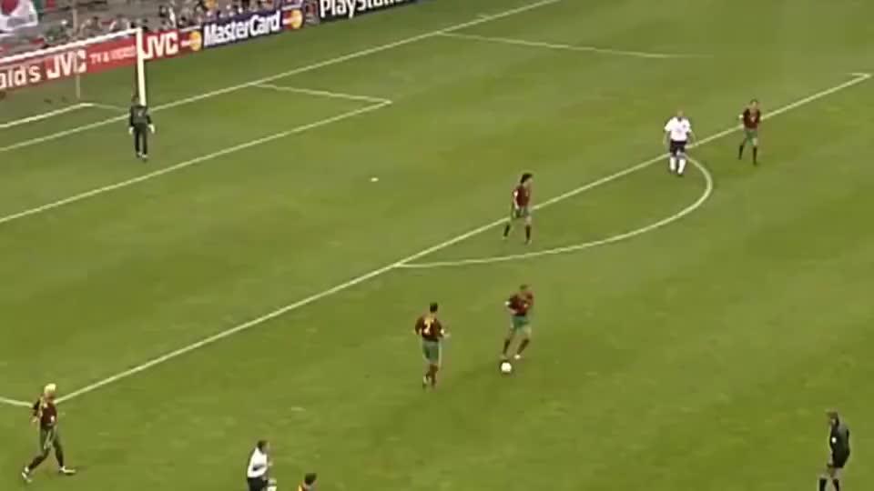 足球经典-00欧洲杯菲戈远射破英格兰