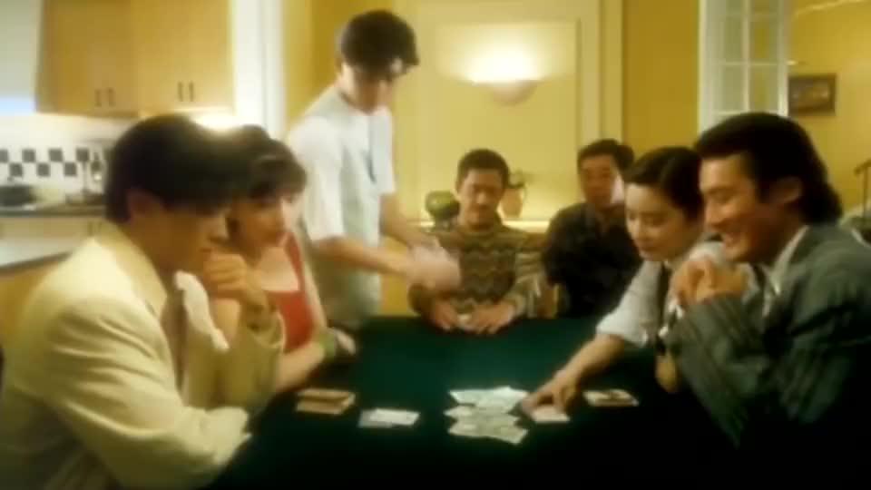 岳父打牌试探三女婿人品,郑伊健很潇洒,张学友梁家辉全程搞笑!