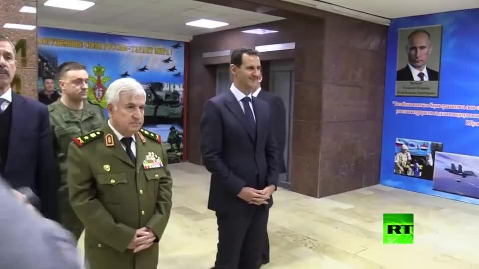 叙利亚总统阿萨德接待总统,一看就是铁哥们儿