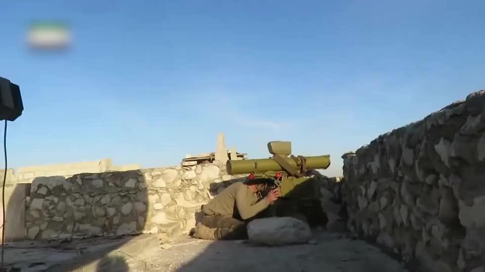 实拍叙利亚战争:叛军用导弹偷袭政府军