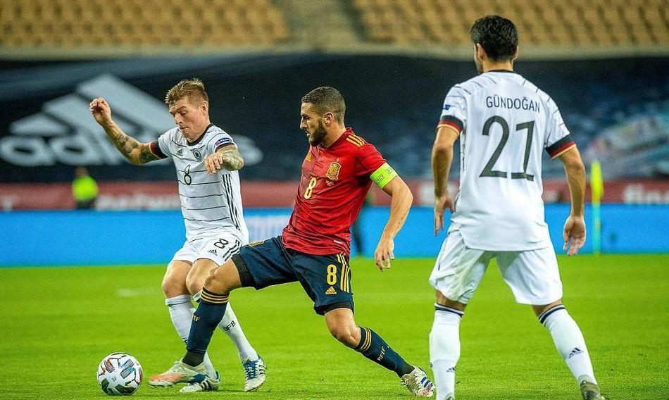 2020欧国联赛A4组第6轮,西班牙主场6比0狂胜德国!