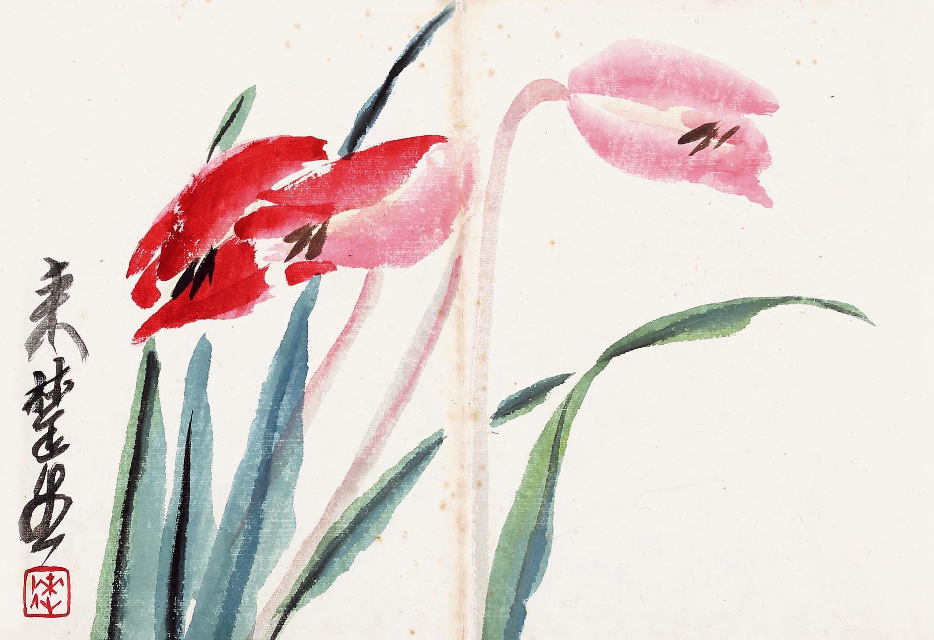 他是一位诗书画印四绝艺术家,作品在现代花鸟画坛上独树一帜!
