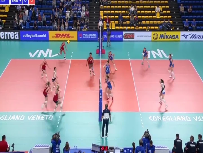 集锦!美国女排3-1塞尔维亚,世界女排联赛第2周比赛!