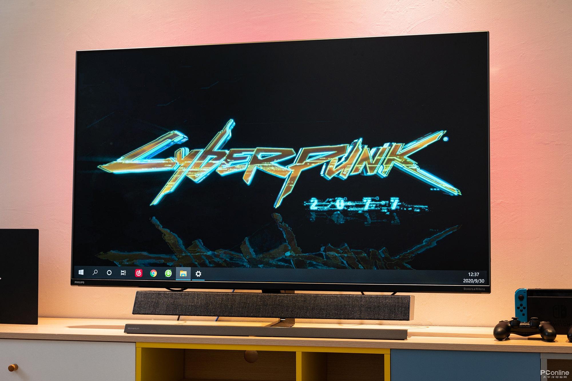 飞利浦558M1RY显示器图赏 55寸的巨屏犹如电视机