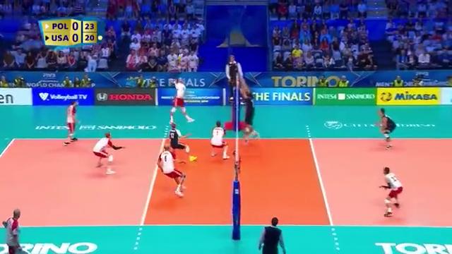 2018男排世锦赛半决赛集锦波兰VS美国