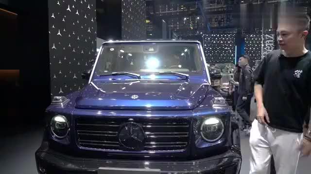 北京车展静态体验奔驰G350,三把锁还在,外观内饰依旧香