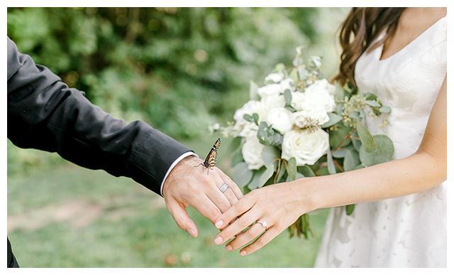 """婚礼上的意外""""宾客"""",一只蝴蝶闯入他们的婚礼"""