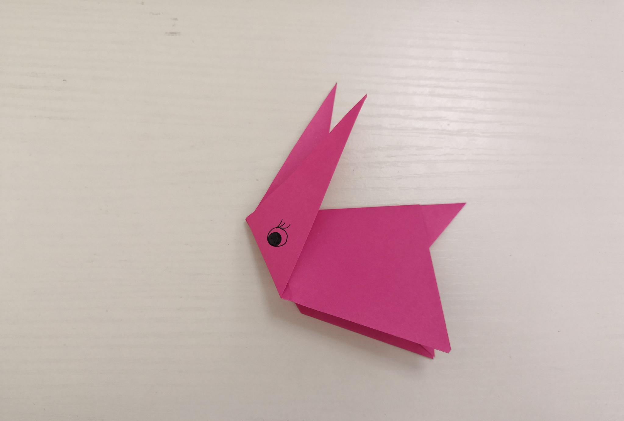 育儿:兔子折纸教程,简单易学,适合小朋友动手制作