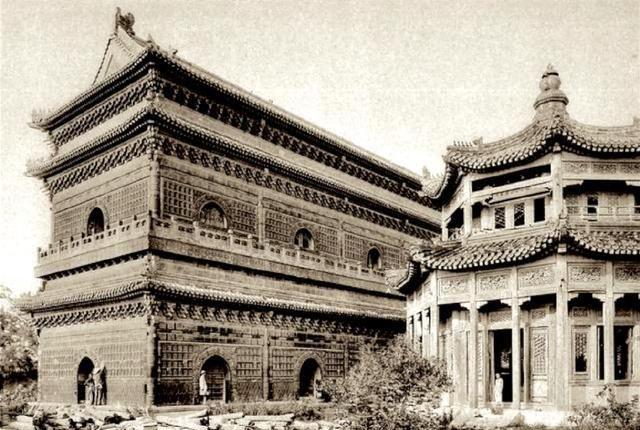 看图六1900之前的中南海紫光阁,还有北京几所古建筑,有的没了