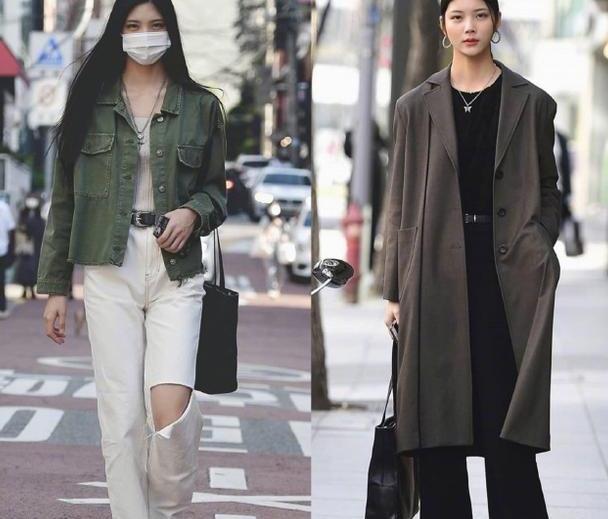 秋冬换季不会穿?学学韩风搭配,叠穿出时尚感,颜色大气还显瘦