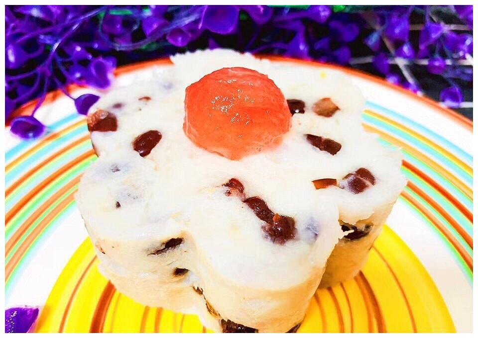 宝宝辅食食谱   芋头红豆糕