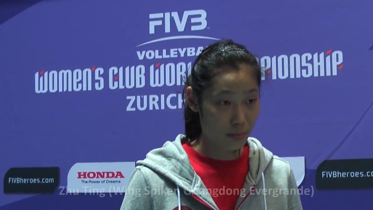 朱婷!19岁青涩的大婷~猜猜这是2013女排世俱杯那场比赛的采访?
