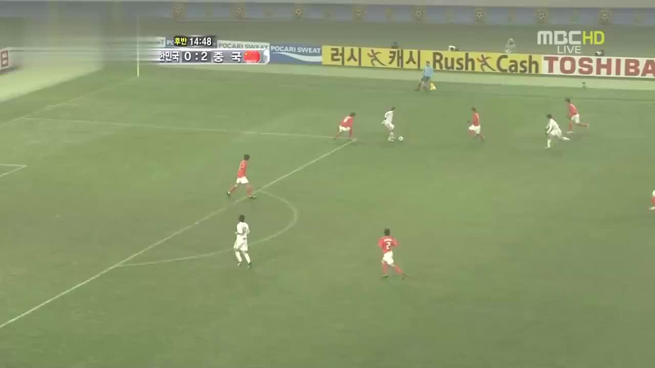 9年前邓卓翔的进球VS孙兴慜的长途奔袭,国足现在只能羡慕韩国队
