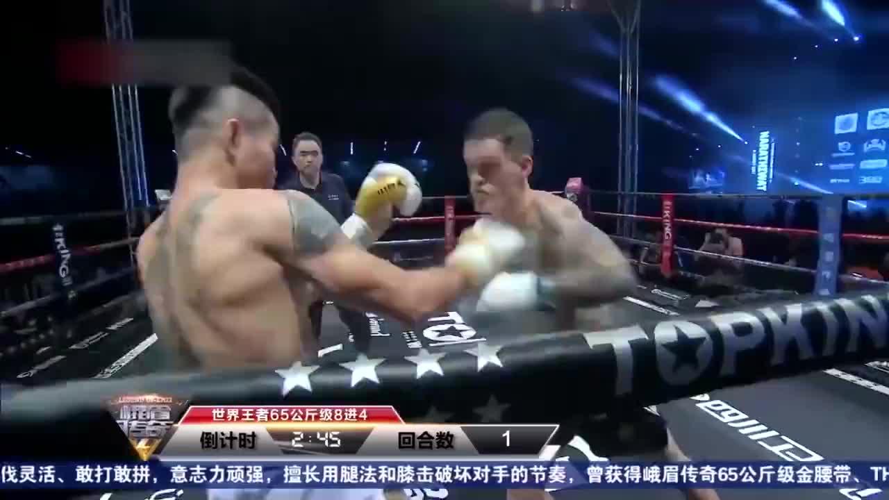 德国冠军浑身都是金腰带,对上了他也得跪,30秒读秒再KO!