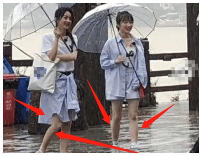 《中餐厅4》新生图,高朋全员外出购物,赵丽颖生图尽显真实腿型