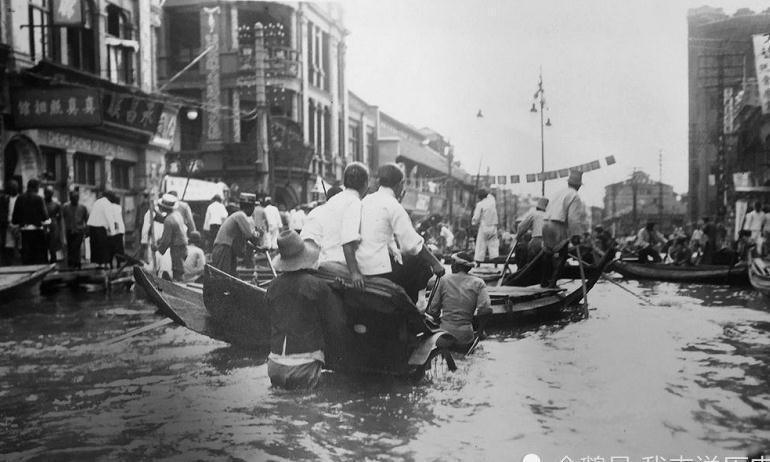 灾难纪实:1931年的武汉大水灾,图2是水上出租车