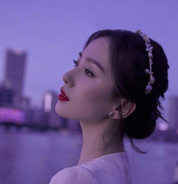 刘诗诗晒夜景造型,长裙配珍珠发箍惊艳动人,网友:四爷真有福!