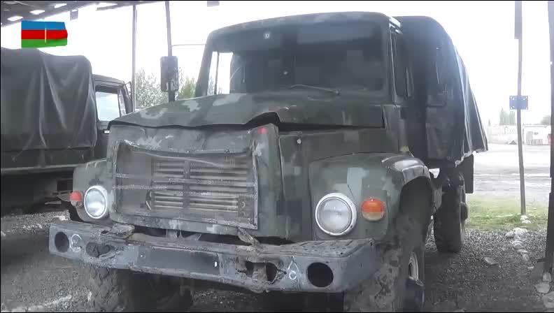 阿塞拜疆缴获大量的亚美尼亚军车,大部分都是二战时期的