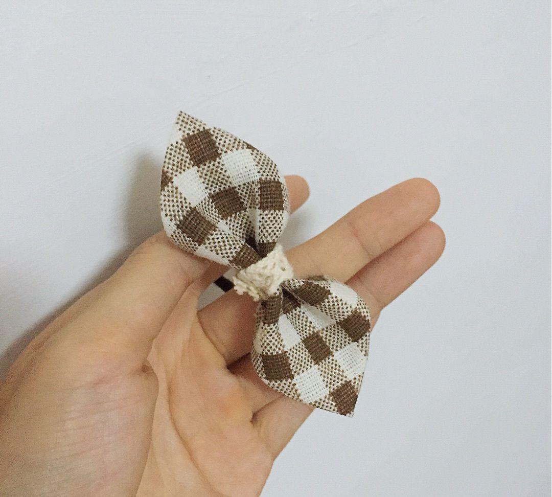 DIY布艺头饰 教你制作简单漂亮的蝴蝶结发饰