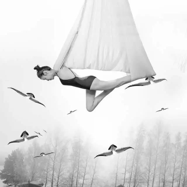人像摄影佳作:空中的舞蹈