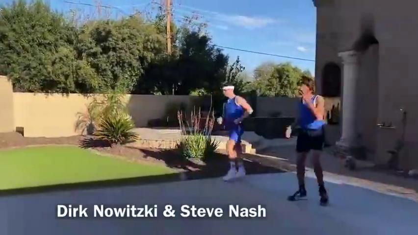 诺维斯基和纳什打球