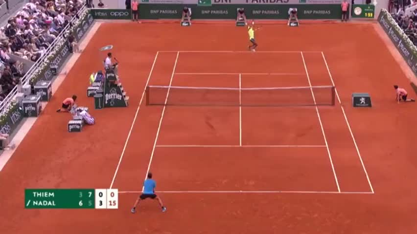 纳达尔神仙一击打服蒂姆,第12次夺得法网冠军