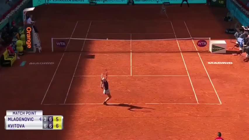 网球:卫冕冠军科维托娃击败资格赛选手梅拉德诺维奇,六连胜对手